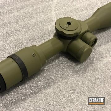 U.s Optics Scope Cerakoted Using Noveske Bazooka Green