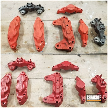 Calipers Cerakoted Using Ruby Red