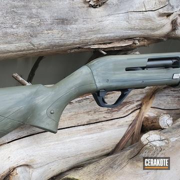 Winchester Shotgun Cerakoted Using Kel-tec® Navy Blue, Armor Black And Desert Sage