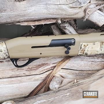 Franchi Shotgun Cerakoted Using Matte Ceramic Clear, Coyote Tan And Graphite Black