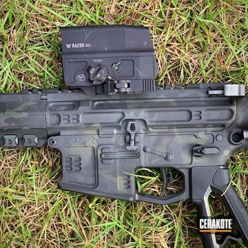 Multicam Slr Rifle Works Ar Cerakoted Using Graphite Black