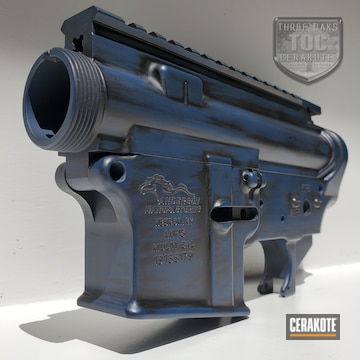 Anderson Manufacturing Upper And Lower Cerakoted Using Kel-tec® Navy Blue And Armor Black