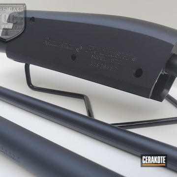 Remington 572 Receiver And Barrel Cerakoted Using Graphite Black