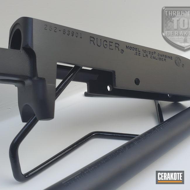 Cerakoted: S.H.O.T,10/22,Ruger,Graphite Black H-146,22,Carbine