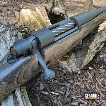 Mossberg Bolt Action Rifle Cerakoted Using Sniper Grey