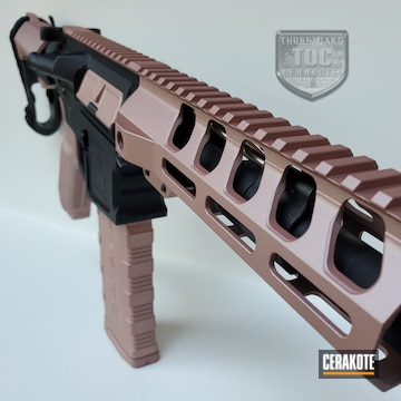 Ar-15 Cerakoted Using Rose Gold