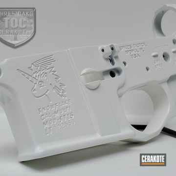 Spikes Tactical Lower Cerakoted Using Bright White