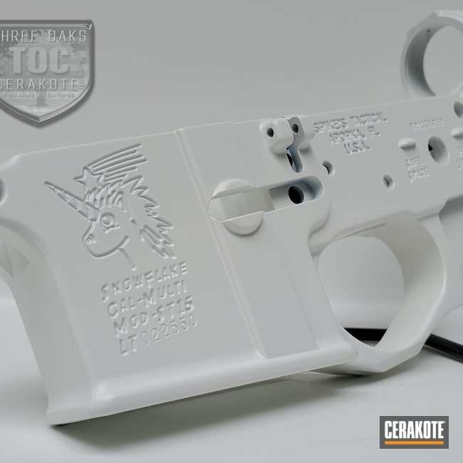 Cerakoted: Bright White H-140,S.H.O.T,Lower,Spikes,AR Build