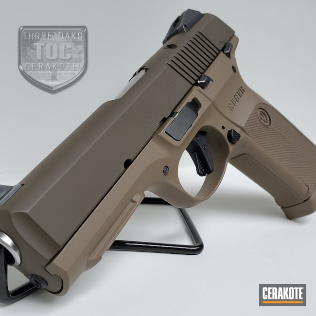 Cerakoted: S.H.O.T,MAGPUL® FLAT DARK EARTH H-267,Ruger,Patriot Brown H-226,Ruger SR45,Semi-Auto,45 ACP
