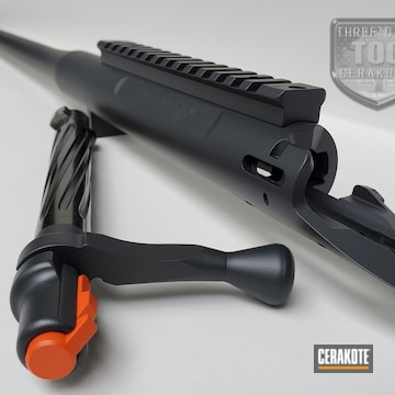 Bolt And Barrel Cerakoted Using Hunter Orange And Sniper Grey