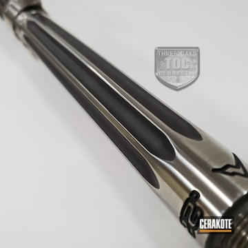 Ranier Arms Ar-15 Barrel Cerakoted Using Graphite Black