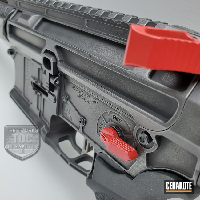 Cerakoted: S.H.O.T,RUBY RED H-306,Armor Black H-190,Tactical Grey H-227,AR Build,AR-15,Ascend Armory