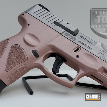 9mm Taurus G2c Cerakoted Using Rose Gold