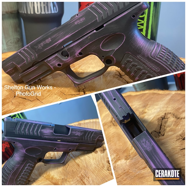 Cerakoted: S.H.O.T,9mm,Wild Purple H-197,Armor Black H-190,Springfield Armory