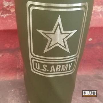Custom U.s Army Tumbler Cerakoted Using O.d. Green
