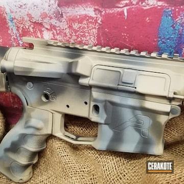 Custom Ar Cerakoted Using Desert Sand, Smith & Wesson® Grey And Graphite Black