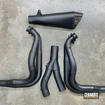 Exhaust System Cerakoted Using Cerakote Glacier Black