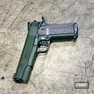 1911 Cerakoted Using Sniper Grey And O.d. Green