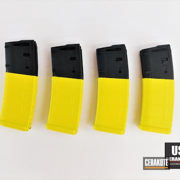 Magpul Pmag Cerakoted Using Electric Yellow