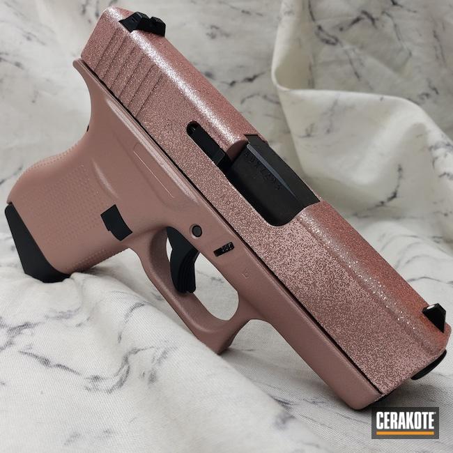 Cerakoted: S.H.O.T,9mm,Glitter Glock,Hesseling,Pink,Sparkle,Shimmer,Glock,Hesseling and Sons,ROSE GOLD H-327,Glock 43,Ladies