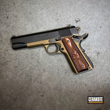 Springfield Armory 1911 Cerakoted Using Burnt Bronze And Blackout