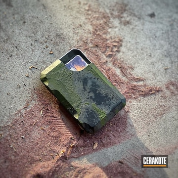 Wallet Cerakoted Using Multicam® Bright Green, Sniper Grey And Graphite Black