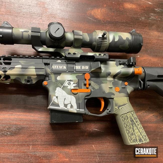 Cerakoted: S.H.O.T,Stag Arms,Coffee,Gen II Solid Leaf Green HIR-253,HI-VIS ORANGE H-346,savage roasters,Custom Camo,5.56,Multicam AR,MultiCam,Gen II Graphite Black HIR-146,Gen II Flat Dark Earth HIR-265,Satin Aluminum H-151,Stag 15,Custom Camo AR,AR-15