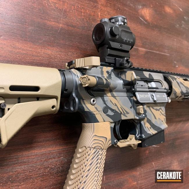 Cerakoted: S.H.O.T,VZ Grip,Jungle E-140,20150 E-190,jp rifles,Midnight E-110,Honey Badger,ST-15,JP Enterprises Muzzle Brake,Custom Camo,Custom AR