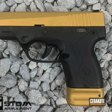 Beretta Bu9 Nano Cerakoted Using Graphite Black And Gold