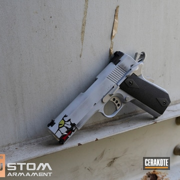 Valor 1911 Cerakoted Using Armor Black, Mojito And Stormtrooper White