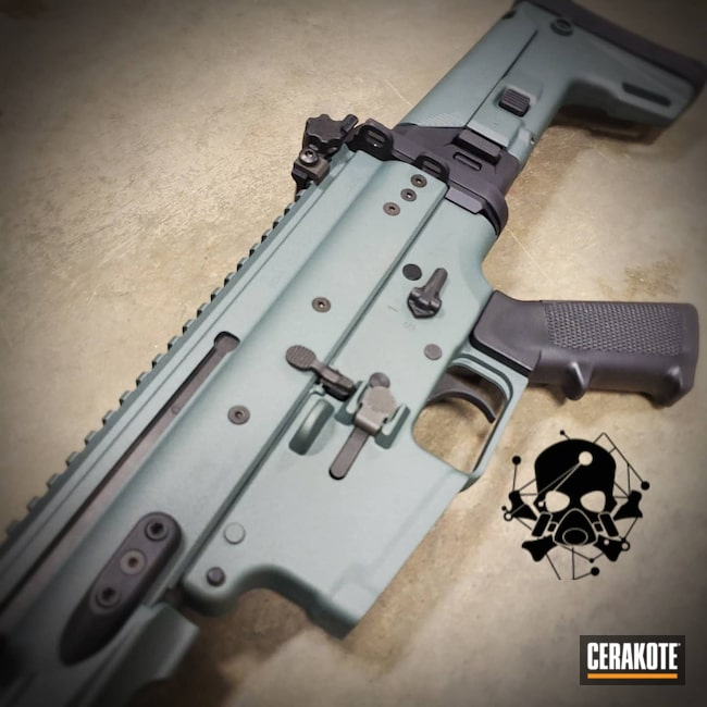 Cerakoted: S.H.O.T,Rifle,SCAR,Scar 20s,FN Scar,Tungsten H-237,#FN Scar,FN