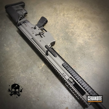 Fn Scar 17 Cerakoted Using Crushed Silver