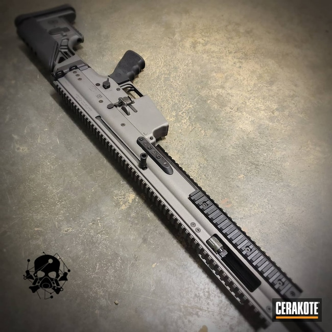 Cerakoted: S.H.O.T,SCAR,SCAR 17,Crushed Silver H-255,Tactical Rifle,#FN Scar,FN