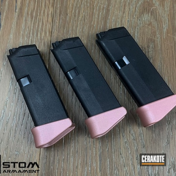 Glock 42 Mag Base Plate Cerakoted Using Rose Gold