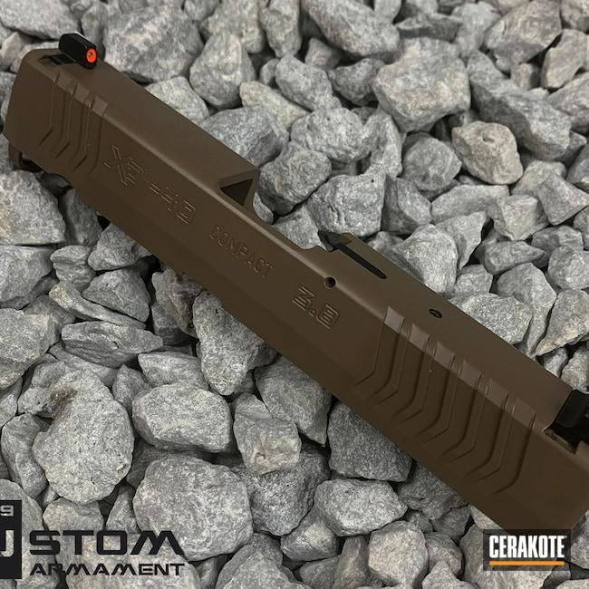 Cerakoted: S.H.O.T,M17 COYOTE TAN E-170,Springfield Armory,Slide,XDm,Handgun