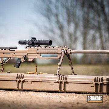 416 Barret Rifle Cerakoted Using M17 Coyote Tan