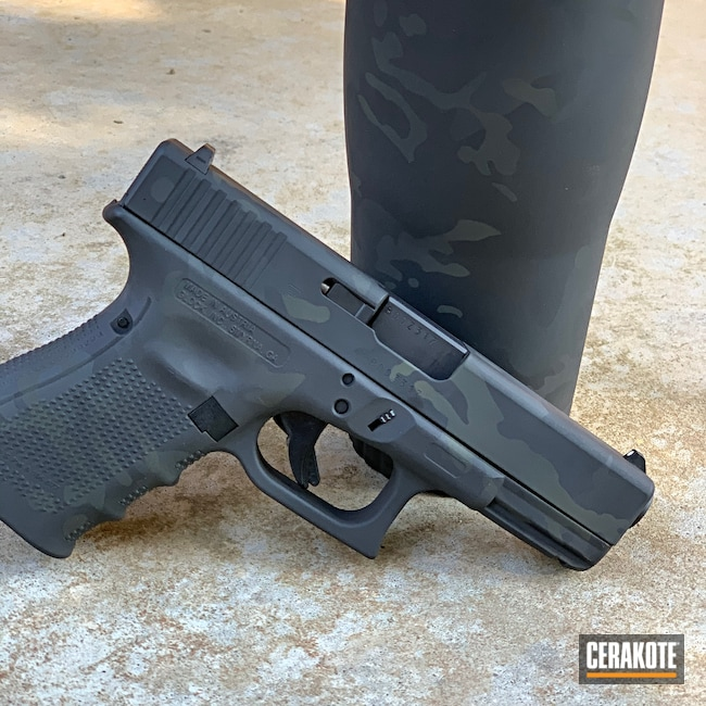 Cerakoted: S.H.O.T,Pistol,Glock 23,MultiCam Black,.40,Tumbler,MultiCam,Graphite Black H-146,Camo,Glock,Cups,Camouflage,Cup