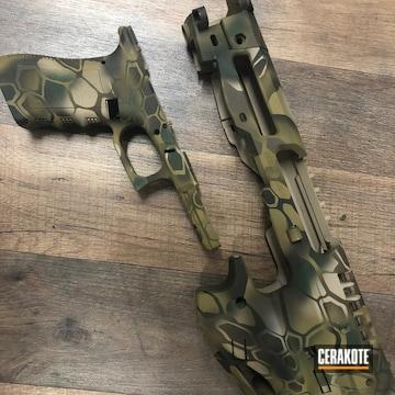 Custom Kryptek Camo Glock Frame Cerakoted Using Patriot Brown, Highland Green And Multicam® Olive