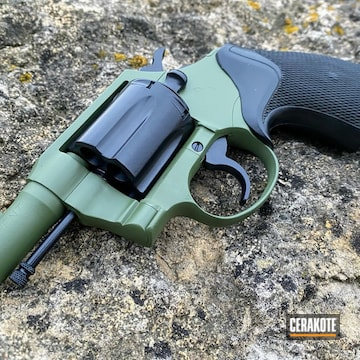 Colt Agent Revolver Cerakoted Using Blackout And Multicam® Dark Green