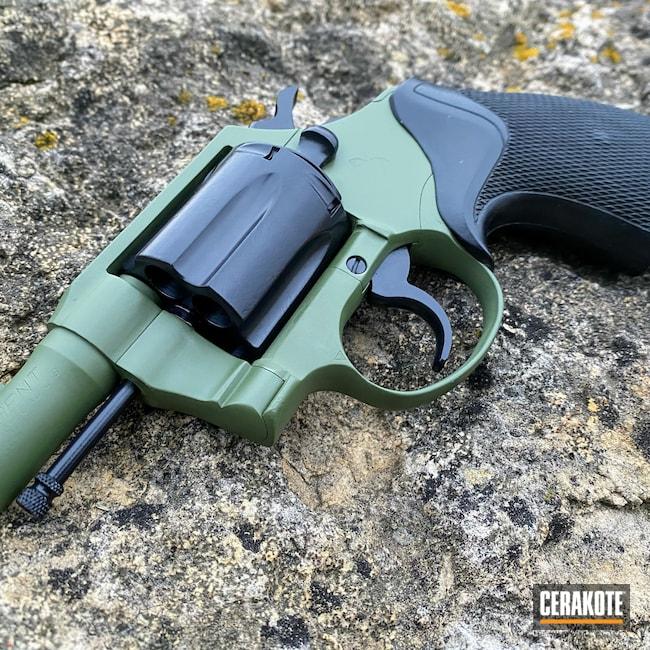 Cerakoted: S.H.O.T,BLACKOUT E-100,Agent,Two Tone,Revolver,Wheel Gun,Colt,Elite,Bi-Tone,MULTICAM® DARK GREEN H-341