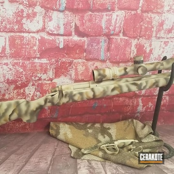 Remington 700 Cerakoted Using Noveske Tiger Eye Brown, Plum Brown And Frost