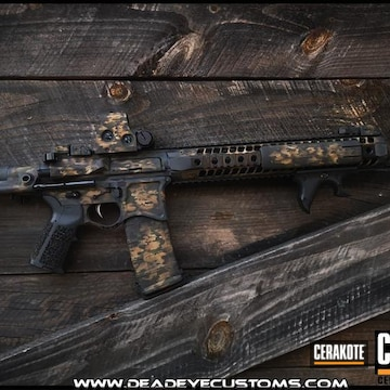 Multicam Custom Ar Cerakoted Using Noveske Tiger Eye Brown, Benelli® Sand And Graphite Black