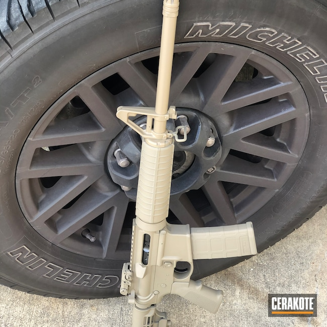 Cerakoted: Coyote Tan H-235,Colt,Firearm,AR-15