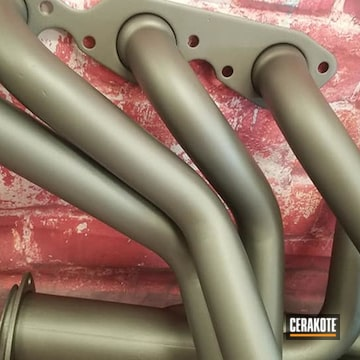 Exhaust Headers Cerakoted Using Cerakote Glacier Black And Cerakote Glacier Silver