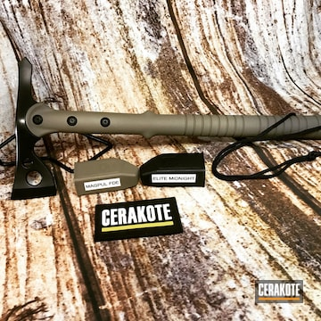 Throwing Axe Cerakoted Using Midnight And Magpul® Flat Dark Earth