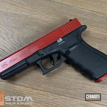 Glock 20 Cerakoted Using Crimson