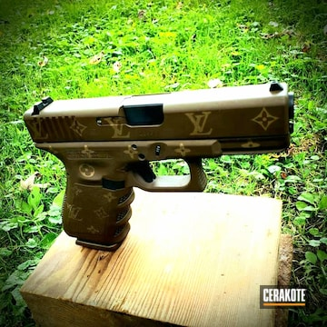 Louis Vuitton Glock 19 Cerakoted Using Plum Brown And Burnt Bronze