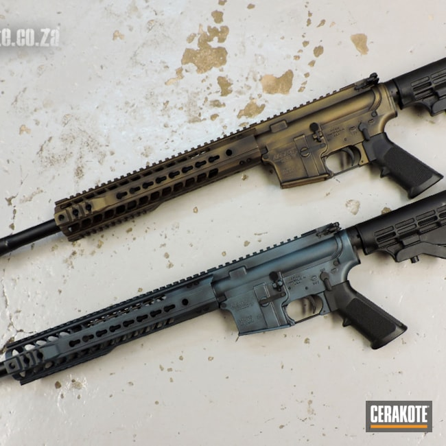 Cerakoted: S.H.O.T,Battleworn,Graphite Black H-146,AR,Burnt Bronze H-148,MATTE ARMOR CLEAR H-301,Tactical Rifle,Carbine,South African,Panther Arms,Blue Titanium H-185