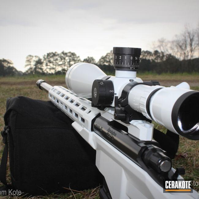 Cerakoted: S.H.O.T,6.5 Creedmoor,Gloss Black H-109,Stormtrooper White H-297,Remington