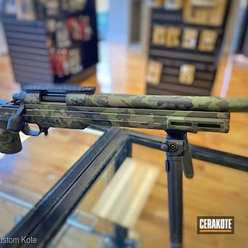 Multicam Remington 700 Cerakoted Using Magpul® O.d. Green, Graphite Black And Multicam® Dark Green